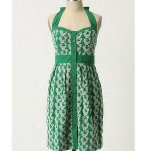 FLOREAT Rooster Embroidered Halter Dress